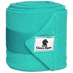 CLASSIC EQUINE ★ POLO WRAPS SET OF 4 WITH LAUNDRY BAG ★ PRINTS ★ ALL STYLES (Teal)