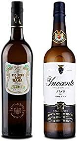 Vino fino en rama Tío Pepe d 75 cl y Vino Fino Inocente de 75 cl - Mezclanza Exclusiva