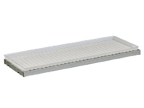 Justrite 29958 SpillSlope Galvanized Steel Shelf with Polyethylene Tray, 39-3/8'' Width x 14'' Depth, For 30 and 45 Gallon Safety Cabinet