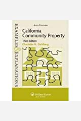 Examples & Explanations: California Community Property 3th (third) edition Paperback