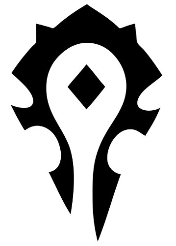 Ikon Sign & Design WORLD OF WARCRAFT HORDE PVP – WOW – 6″- Vinyl Decal Window Sticker (black)