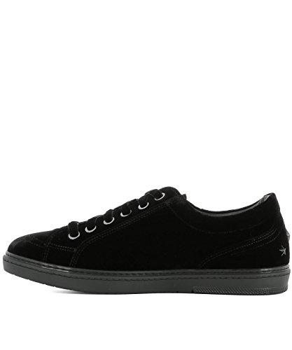 Jimmy Choo Herre CashvelSort Sort Samt Sneakers 5yWrP