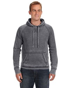 Vintage Distressed Pullover Hooded Sweatshirt- Dark Smoke Gray (Distressed Vintage Sweatshirt)