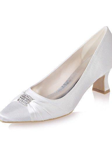 ShangYi Chaussures de mariage - Noir / Bleu / Violet / Ivoire / Blanc / Argent / Champagne - Mariage / Soirée & Evénement - Bout Carré - Talons - , 2in-2 3/4in-white