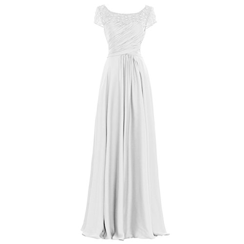 H.S.D Girls Relaxed Pears Modification Maxi Length Special Occasion Dress White