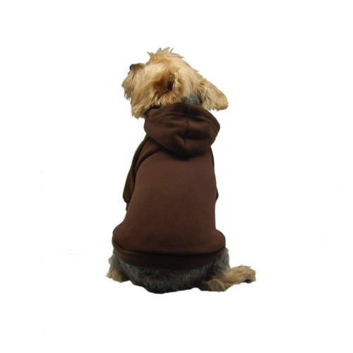 Anima Brown Pullover Drawstring Hoodie Sweatshirt, Medium, My Pet Supplies