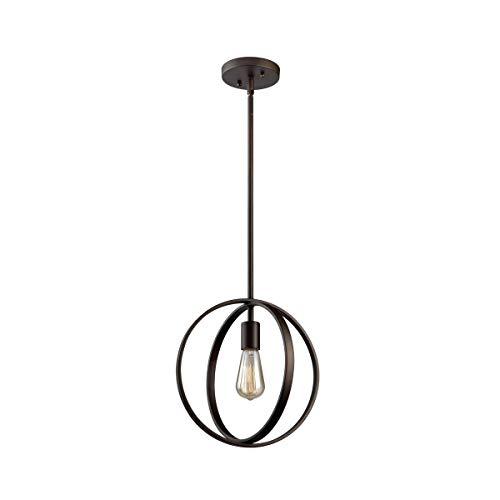 (Pendants 1 Light Bulb Fixture with Oil Rubbed Bronze Finish Metal Medium 12