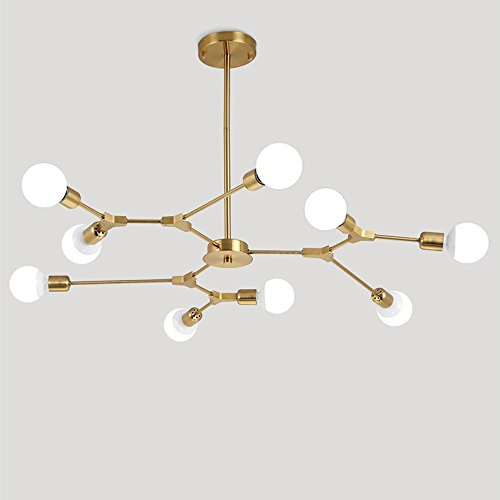 Aero Snail Traditional Classic Gold Mini Style 9-Head Chandelier Adjusting Ambient Light For Living Room Bedroom Dining Room Review