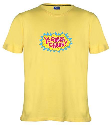 Ruffty -Yo Gabba Gabba- Men's Cotton Tshirt Yellow