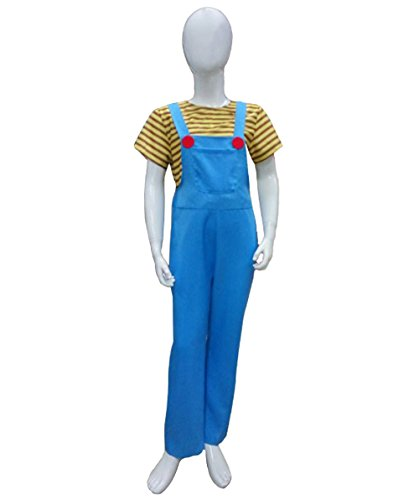 Halloween Party Online Kid's Agnes Costume, Blue & Yellow Large ()