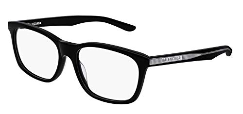 Balenciaga BB0028O Eyeglasses 001 Black-Black 55mm