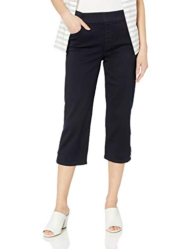 Gloria Vanderbilt Women's Avery Pull On Capri, Rinse - Button Hem 18