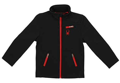 Spyder Big Boys Softshell Jacket, Racing red, M (Snowboard Boys Jacket Spyder)