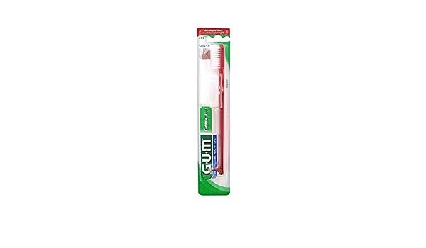 Gum Cepillo de dientes Classic 411 - rojo: Amazon.es: Salud y cuidado personal
