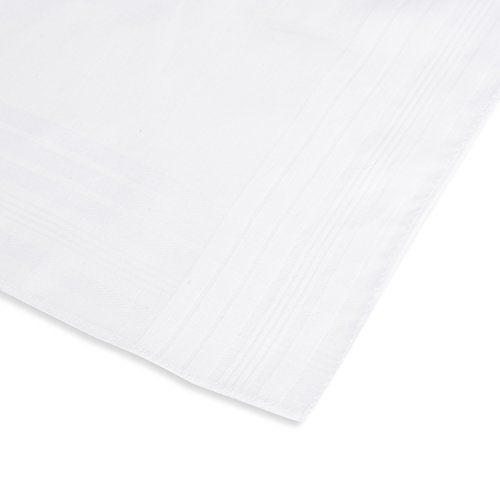 EcoHanky 100% Cotton Men's Handkerchiefs with Hem White 12 Pieces by EcoHanky (Image #3)