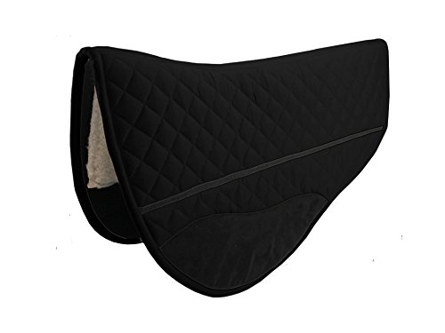 eece and Wool Felt Padding Western Horse Round Skirt Barrel Saddle Pad - 27x31 ()
