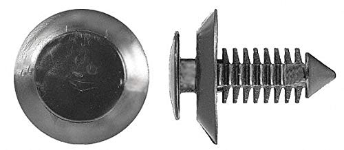 Ribbed Push In Rivet, Nylon, 8mm Dia, 19mm L, 8mm, Black - pack of 5 by Unknown