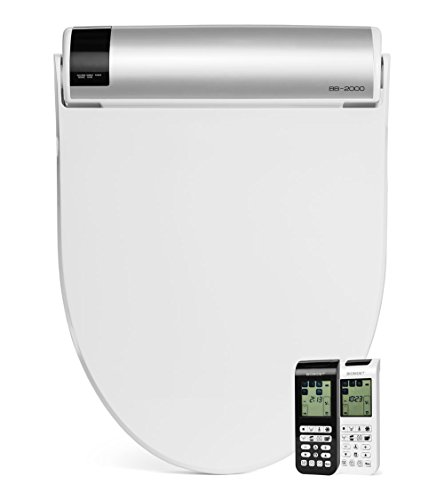 BioBidet Bliss BB2000 Elongated White Bidet Smart Toilet Seat, Premier Class, Unlimited Warm Water, Self Cleaning Hydroflush, Hybrid Heating, Wireless Remote Control, Inviting Nightlight, Vortex Wash by BioBidet