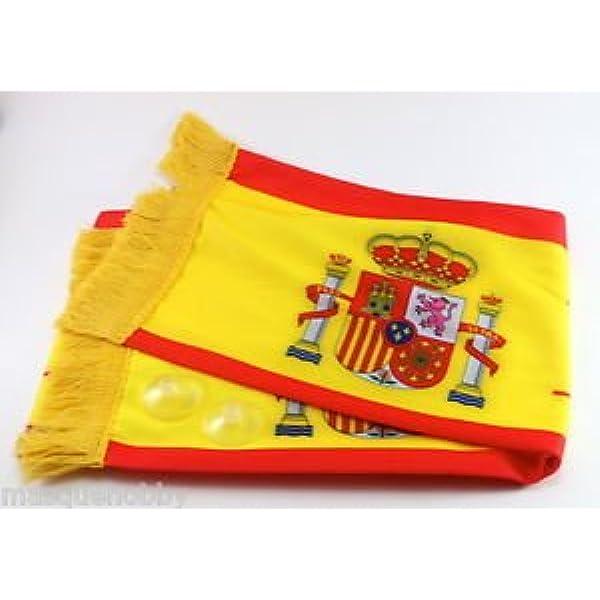 Euroxanty-Bufanda de España para el Coche/Ventana con ventosas 108x16cm Aprox: Amazon.es: Deportes y aire libre