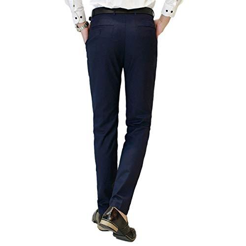 Freizeithose Flatfront Businesshose Marineblau Work Pantalon Bureau Chinohose Slim Casua Hose Casual Pants Herren Formelle Anzughose Moderne Haidean Leichte Fit UO6qX7xw