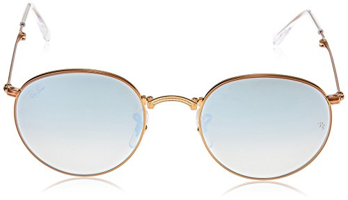 Ray-Ban Metal Man Sunglasses - Shiny Bronze Frame Grey Flash Gradient Lenses 47mm Non-Polarized