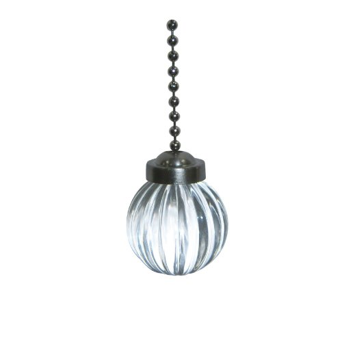 Harbor Breeze Clear and Pewter Pull Chain (Pewter Pull Fan)