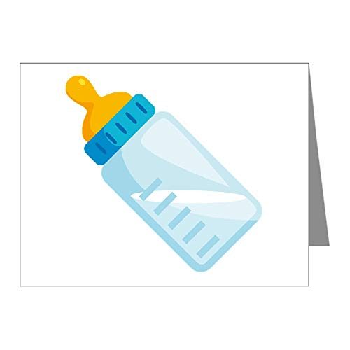 CafePress Baby Bottle Emoji Blank Note Cards (Pack of 20) Glossy ()