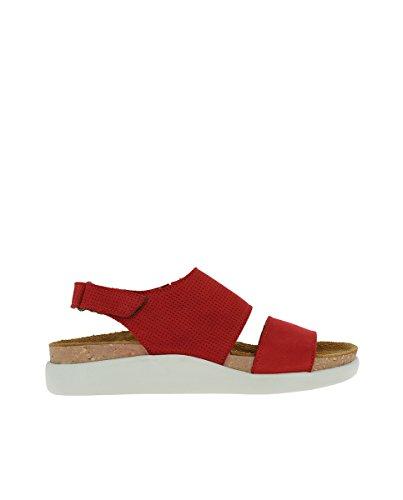El Naturalista N5093 Pleasant Tibet/KOI Red Woman Sandals Velcro