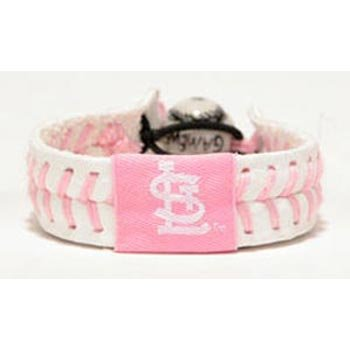 (St. Louis Cardinals Pink Baseball Bracelet)