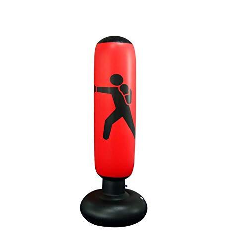 AILUOR Fitness Punching Bag, Heavy Punching Bag Kick Training Inflatable Tower Bag Freestanding Tumbler Column Sandbag Children Fitness Sport Play Adults De-Stress Boxing Target Bag 160CM