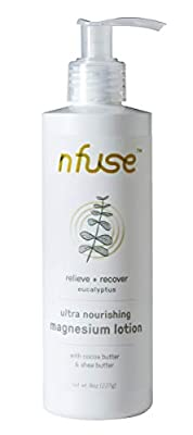 nfuse Magnesium Body Lotion | Ultra Healing | Natural Magnesium Therapy | Eucalyptus: Relieve + Recover | 8 oz