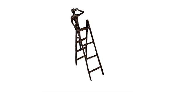 Giow Decoración Manualidades para el hogar, artesanías Creativas de Metal Adornos de Personajes en la Escalera de la estación Mujer Simple Sala de Estar Moderna Estudio Decoración: Amazon.es: Hogar