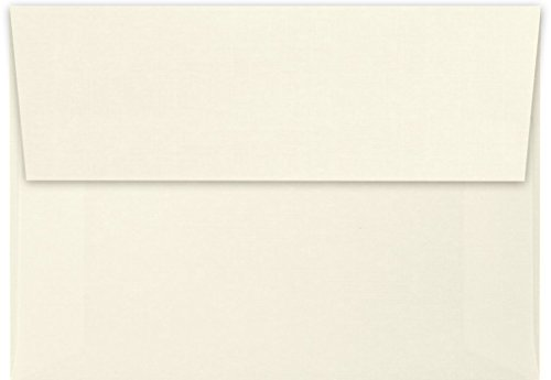 A1 Invitation Envelopes w/Peel & Press (3 5/8 x 5 1/8) - Natural Linen (50 Qty) | Perfect for RSVP Cards, Invitations, Announcements and Notes | 4865-NLI-50
