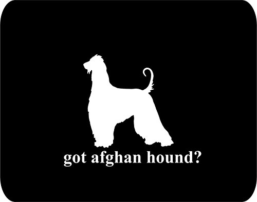 got afghan hound? Dog Lovers - Rectangle Non-Slip Rubber - Black Thick Mouse Pad - 8