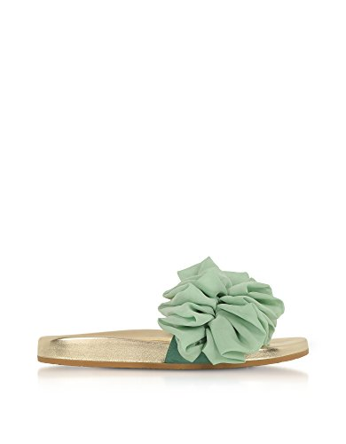 charlotte olympia Women's Ols1857162292 Green Silk Sandals