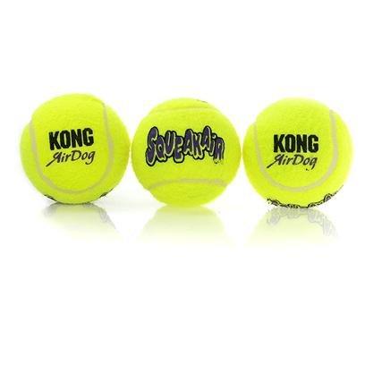 Kong Airdog Squeaky 3 -Pack Medium (Tennis Ball Size), My Pet Supplies