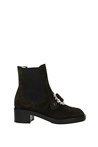 Miu Miu Ankle Boots Women - Suede (5T169BSCAMOSCIATO4) UK Brown