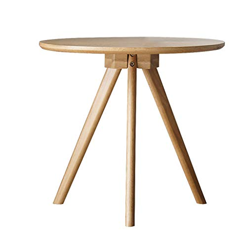 YX Coffee Table - Modern Minimalist Solid Wood Sofa Side Home Living Room Log Japanese Designer Furniture Nordic Oak Round Coffee Table (Color : Natural)