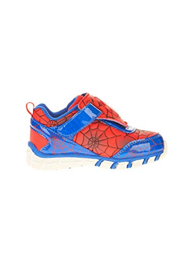 (BBC Int Spider-Man Toddler Boys' Athletic Shoe (7) Red Blue)