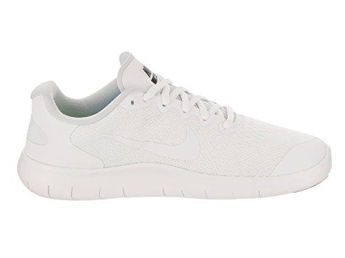 Nike Meisjes Gratis Rn 2017 (gs) Loopschoen Wit / Wit / Zwart