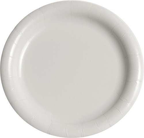 Solo MWP9B-2054 9 in White Paper Plate, Medium Weight (Case of 500) ()