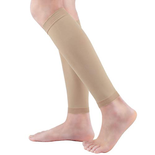 Premium Women's Footless Compression Socks 2 Pairs (20-30mmHg) Calf Support & Pain Relief, Calf Compression Sleeve for Varicose Veins, Shin Splint, Swelling, Edema, Baseball, Nurses, Maternity