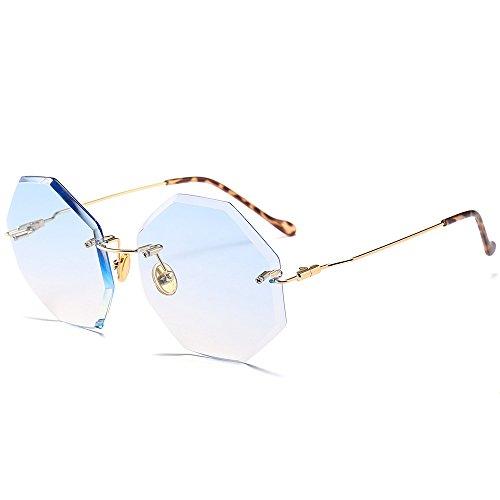 à de Qinddoo irréguliers cadre irréguliers soleil lunettes Lunettes de bords Nouvelles à lunettes C3 soleil sans de Lunettes soleil 50Hqrw0