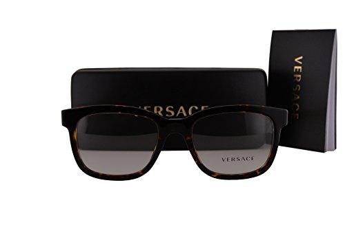 Versace VE3239 Eyeglasses 54-20-145 Havana w/Clear Lens 108 VE - Non Versace Glasses Prescription