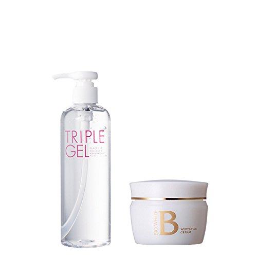 エビス化粧品(EBiS) トリプルジェル315g & ビーホワイトクリーム40g 美顔器ジェルと保湿クリーム B01AL3CY68