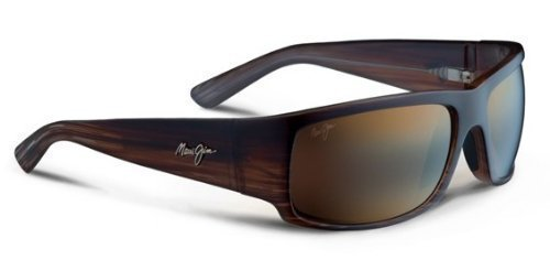 Maui Jim World Cup Sunglasses Chocolate Stripe Fade / HCL Bronze