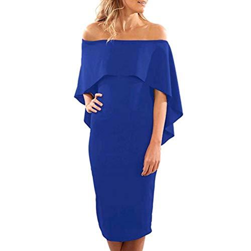 7aab1602e Para Ceremonia Vestidos Ropa Coctel Gasa Mujer Elegantes 2019 Fiesta Encaje  Noche Vestidos Partido Vestido Largos Azul Faldas Zolimx ...