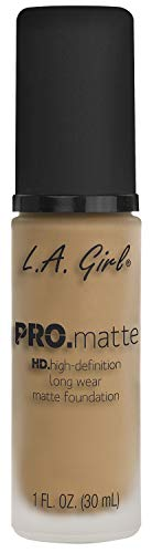 L.A. Girl Pro Matte Foundation, Sandy beige, 1 Fluid Ounce