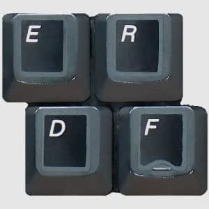 English QWERTY Laminated Keyboard Stickers for All PC & Laptops with White Lettering