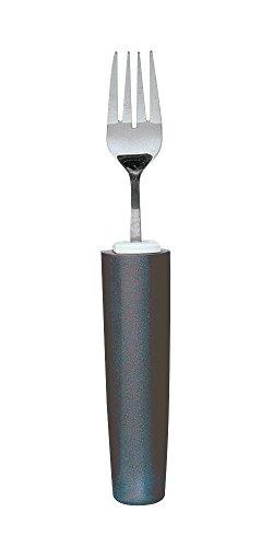 Dinner Fork Model - Comfort Grip Cutlery Model Dinner Fork, Easy to Hold Fork for Weak Grips, Arthritis, Tremors with Soft Rubber Grip